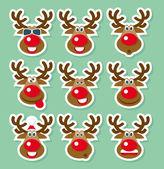 Vánoční jelenů — Stock vektor