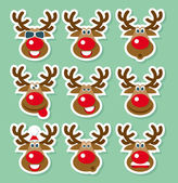 Natale cervi — Vettoriale Stock