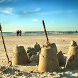 Sand Castle on Beach — Stok fotoğraf