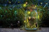 Girl in Jar — Stock Photo