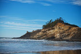 Rock Cliff on Beach — Foto Stock