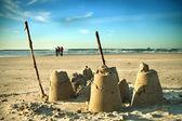 Sand Castle on Beach — Stock Photo