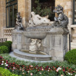 Hotel de Ville Fountain — Stock Photo