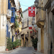 Traditional Maltese alleyway — Stock Photo