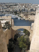 Valletta Fortifications — 图库照片