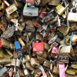 Stock Photo: Love Padlocks on Pont de l'Archeveche in Paris