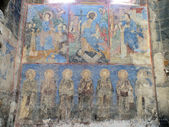 Frescoes at the Surp Astvatsatsin church at Akhtala Monsatery — Stock Photo