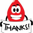 Thanks For Donating Blood — Stock Vector