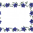 Forget-me-not Floral Border — Stock Vector