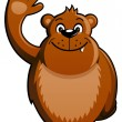 Royalty-Free Stock Vector Image: Cartoon Bear Waving Hand