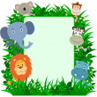 Jungle Animals Frame with copy space — Stock Vector #20391973