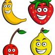 Funny Fruit — Stock Vector