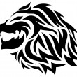 Vector de stock : Tribal lion tattoo