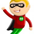 Superhero Mascot - Nitro Boy — Stock Vector