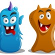 Happy Silly Cute Monsters Set — Stock Vector #20392365