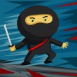 Sword Wielding Ninja ready for some action! — Stock Vector