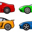 Small colorfull cars — Stock Vector