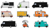 Food Trucks — Stock Vector