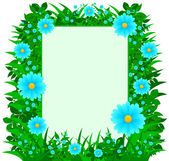 Daisy Flowers Frame — Stock Vector