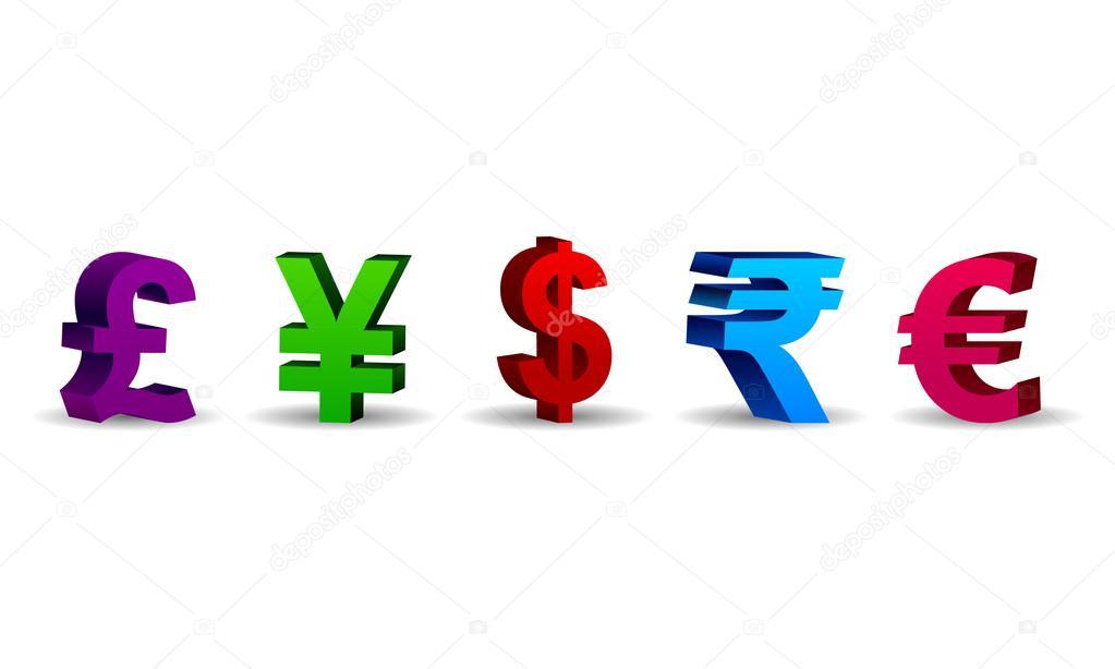 货币货币符号 — 图库矢量图片