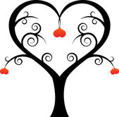 Love Heart Tree — Wektor stockowy