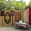 Roadside carpet stall — Stock Photo