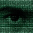 Eye in binary Data — Stock Photo #46491689