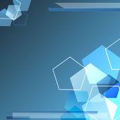 Blue polygonal Background — Stock Vector