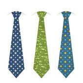 Set di cravatte — Vettoriale Stock