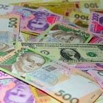 Dollar of the USA and Ukrainian Hryvnia — Stock Photo