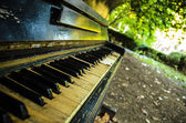 About music. Old piano — Foto Stock