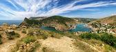 Hory a moře. balaklava bay — Stock fotografie