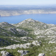 View of Adriatic sea from Velebit mountain,Croatia - Stock Photo