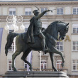 Statue of Josip Ban Jelacic on Ban Jelacic Square,Zagreb,Croatia - Foto Stock
