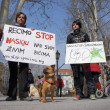 Zagreb, Croatia. March 23rd, 2013. Protest 'Stop abuse and violence against animals' held in Zrinjevac park in Zagreb - Foto de Stock