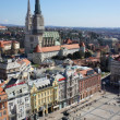 Panorama  view of Zagreb,Croatia - Foto de Stock
