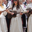 Zagreb,Croatia. Entertainers dressed in traditional costumes of Zagreb - Stock Photo