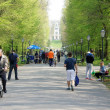 Zagreb,Croatia. April 21. 2013. Citizens took advantage of a beautiful sunny day and walk through the park Maksimir - Foto de Stock