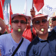 "Zagreb,Croatia.1st May 2013. Union of Autonomous Trade Unions of Croatia organized a protest called  ""Change direction"" - Stock Photo"