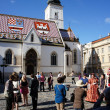Zagreb,Croatia. St. Mark's Church at the Upper Town - Stock fotografie