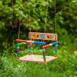 Empty child's swing — Stock Photo