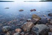 Rocks on the shore of the White Sea — Stock Photo