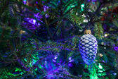 Christmas toy as a pine cone — Stock Photo