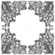 Stock Vector: Vintage baroque frame