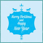Merry Christmas and happy new year 2014 — Stock Vector