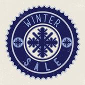 Emblem winter sale — Stock Vector