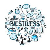 Business doodles — Stock Vector