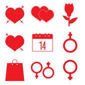 Valentine's icon set — Stock Vector