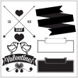 Valentine's day. Set — Stockvektor