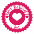 Valentine's Day. Stamp — Vettoriali Stock